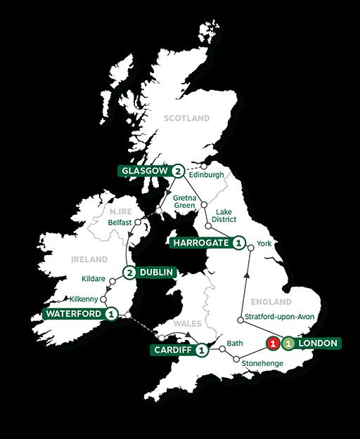 - Britain and Ireland Highlights Summer 2022 Map
