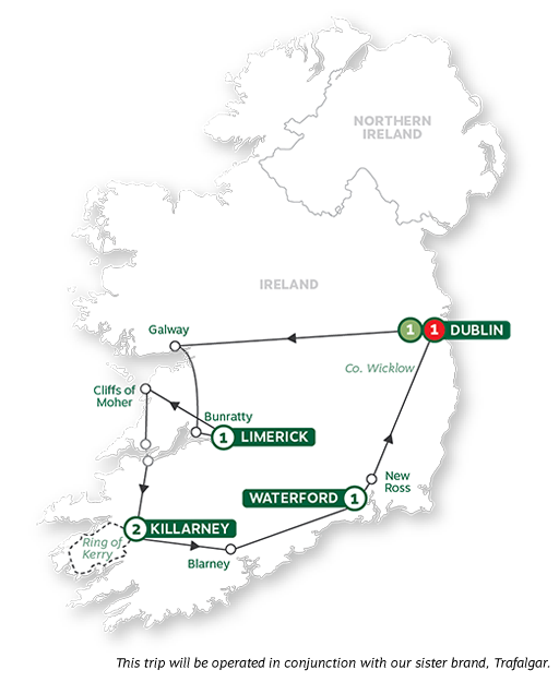 - Irish Highlights Summer 2022 Map