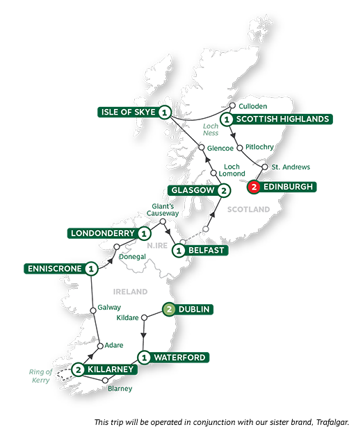- Best of Ireland and Scotland Summer 2021 Map