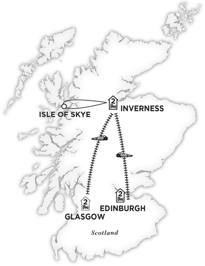 Edinburgh-Inverness-Glasgow