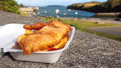 Fish and Chips Broadford Bay Isle of Skye Scotland