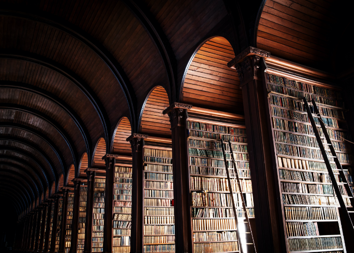 Trinity College Library in Dublin Ireland